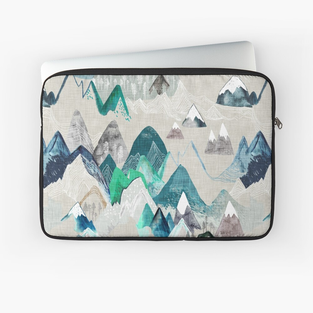 Call of the Mountains (in evergreen)  Laptop Sleeve