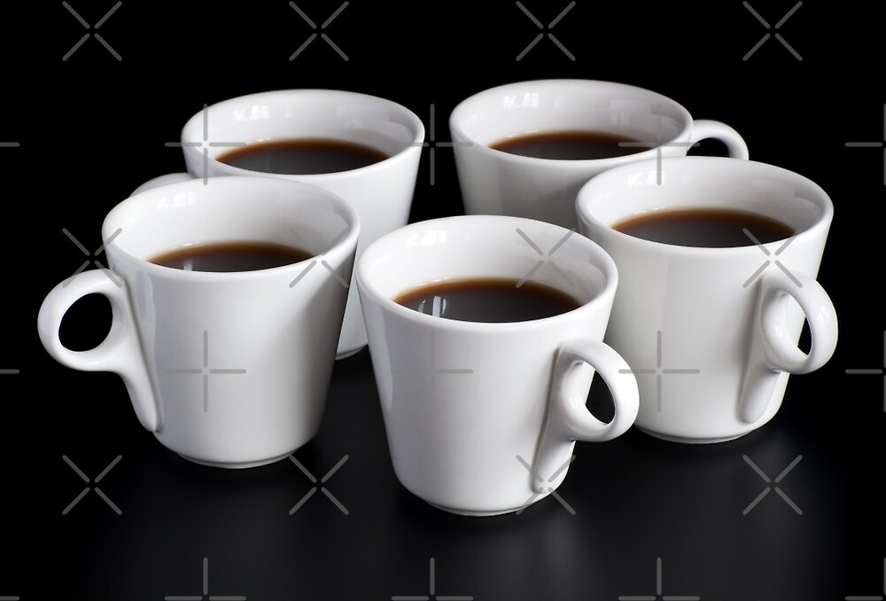 five coffee cups  by bashta