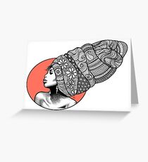 Tribal Head Piece by K80designs Greeting Card