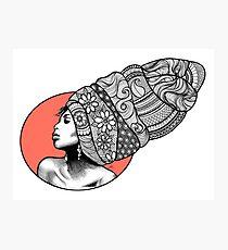 Tribal Head Piece Photographic Print