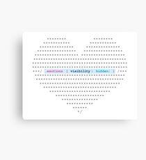 CSS emotions Canvas Print