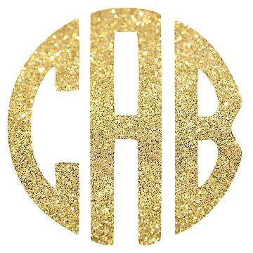 Glitter Monogram: CAB by jaylajones