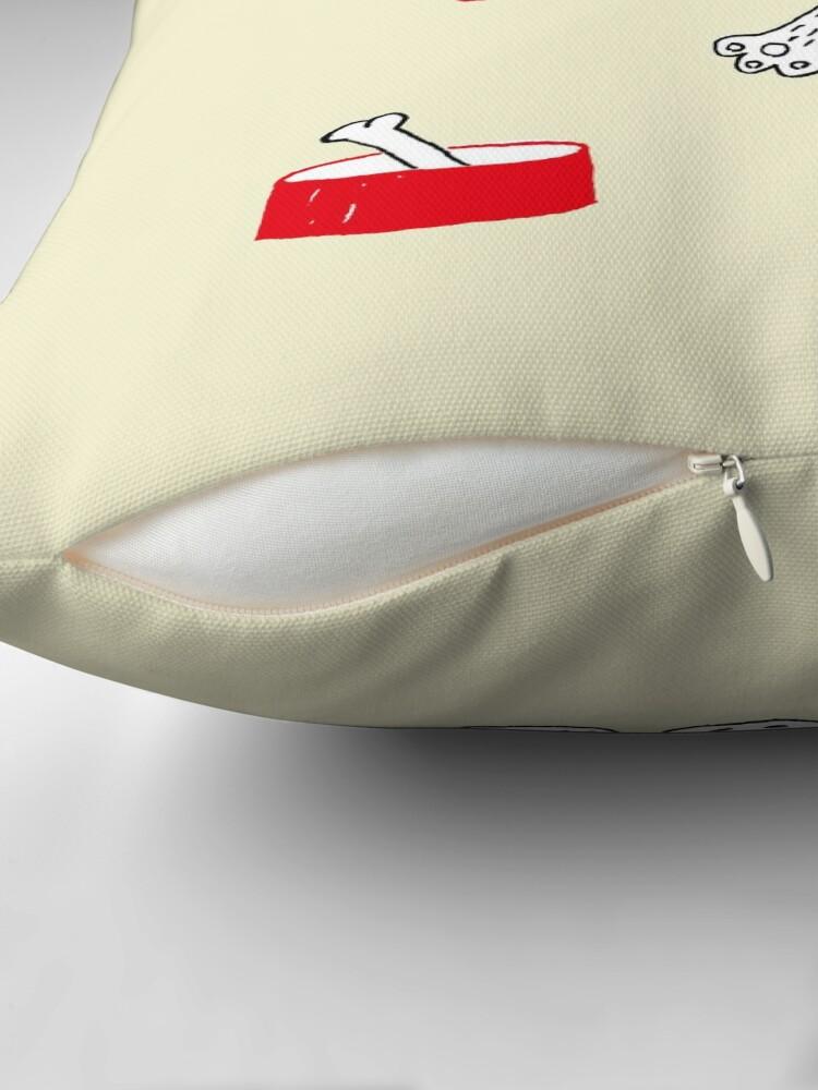 Alternate view of dog Throw Pillow