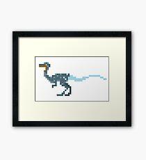 Pixel Coelophysis Framed Print