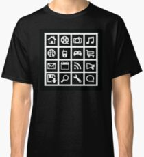 Web icon graphics (reverse white) Classic T-Shirt