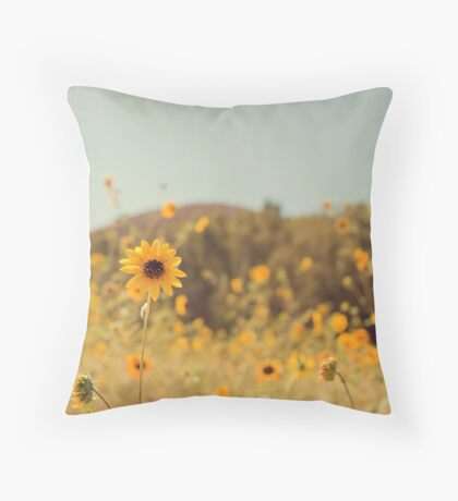 Many Flowers Throw Pillow