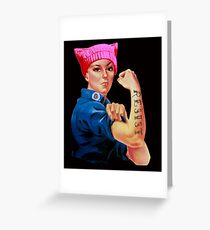 Rosie the Riveter Resists - Keep Fighting and Marching  Greeting Card