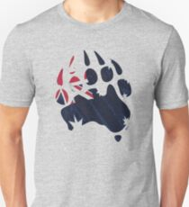 Oz Bear paw - true blue flag Unisex T-Shirt