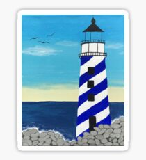 Navy Lighthouse Sticker