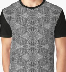 Pattern - Lattice Black & White Fibers Graphic T-Shirt
