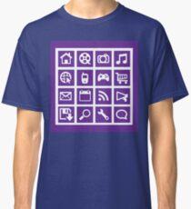 Web icon graphics (purple) Classic T-Shirt