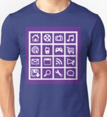 Web icon graphics (purple) Unisex T-Shirt