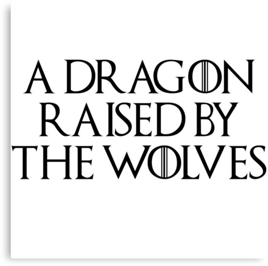 A Dragon Raised by The Wolves (Black) by nerdytalks