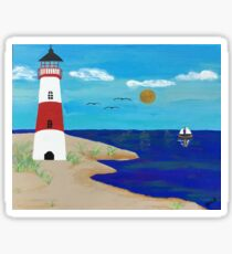 Coastline Lighthouse Sticker