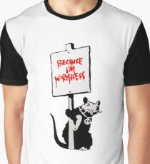 Banksy Worthless Graphic T-Shirt