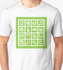 Web icon graphics (green) Unisex T-Shirt