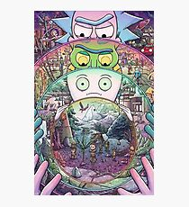 Rick and Morty- Multiverse  Photographic Print