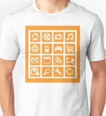 Web icon graphics (orange) Unisex T-Shirt