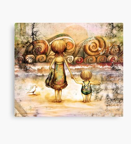 Beachcombers Sunrise Canvas Print