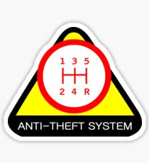 Anti-Theft System (Pattern 1) (light) Sticker
