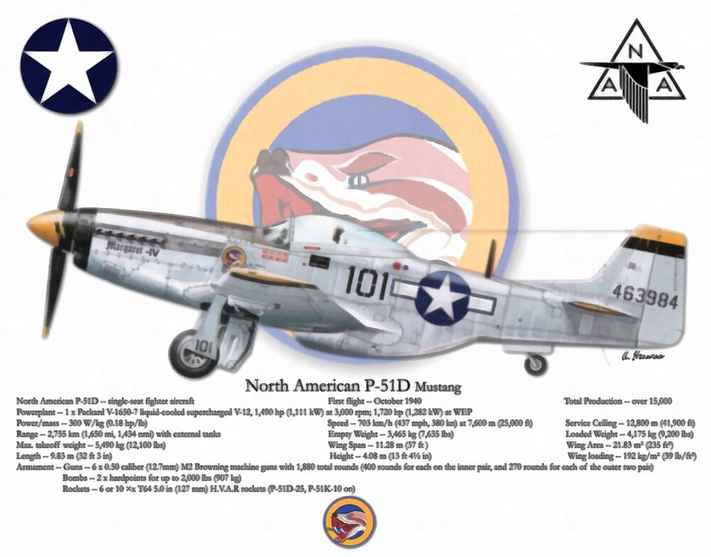 North American P-51 Mustang by AH-Aviation-Art
