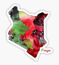 Watercolor Countries - Kenya Sticker