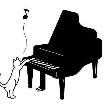 Cute Cat Playing Piano,Funny Musician Art Gift by caoorang