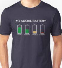 Lustiges introvertiertes Spaß-T-Shirt Slim Fit T-Shirt