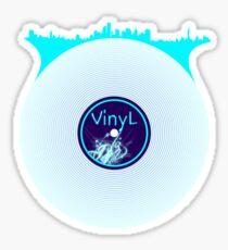 New York City Scape Vinyl DJ Sticker