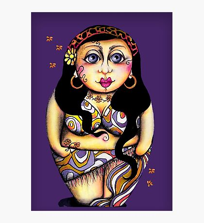 Matryoshka On Holiday Purple & Single Photographic Print