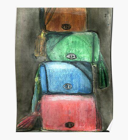 Stack Of Handbags Poster