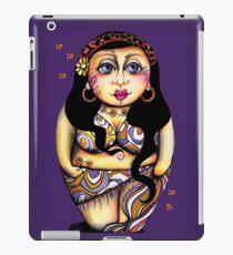 Matryoshka On Holiday Purple & Single iPad Case/Skin