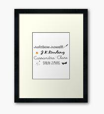 Favorite authors Framed Print
