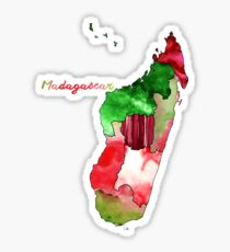 Watercolor Countries - Madagascar Sticker