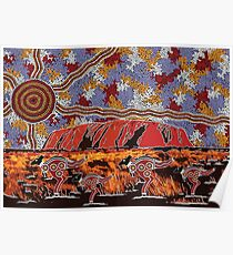 Uluru | Ayers Rock - Authentic Aboriginal Arts Poster