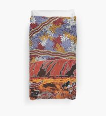 Uluru | Ayers Rock - Authentic Aboriginal Arts Duvet Cover