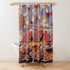 Uluru | Ayers Rock - Authentic Aboriginal Arts Shower Curtain