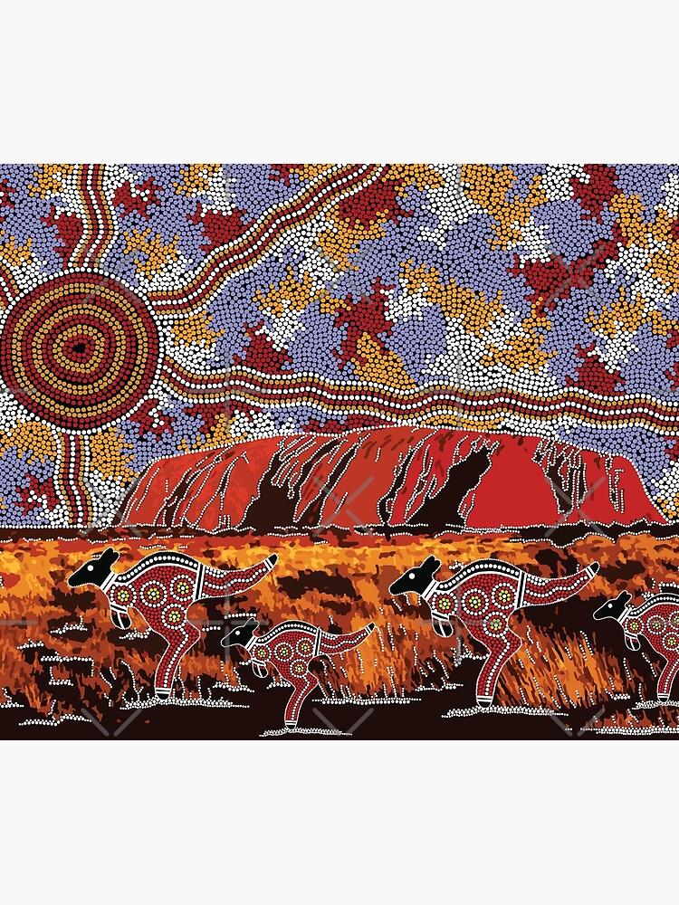 Uluru   Ayers Rock - Authentic Aboriginal Arts by HogarthArts