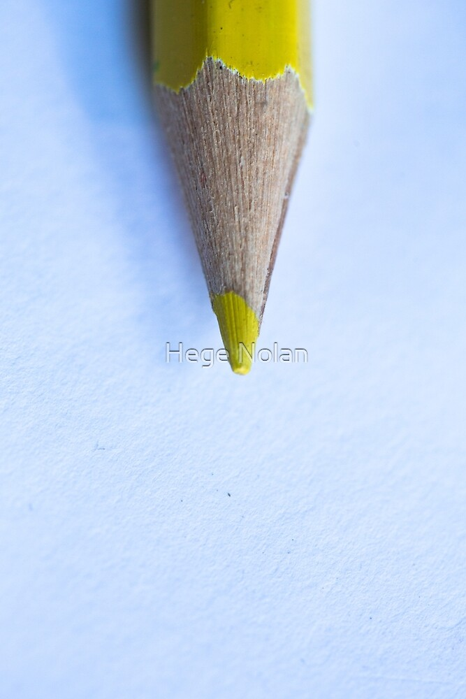 Yellow Pencil by Hege Nolan