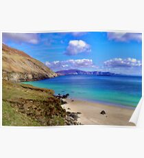 Keem Bay With The Minaun Cliffs In The Distance Off Achill Island Poster