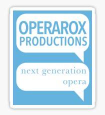 OperaRox Productions - next generation swag Sticker