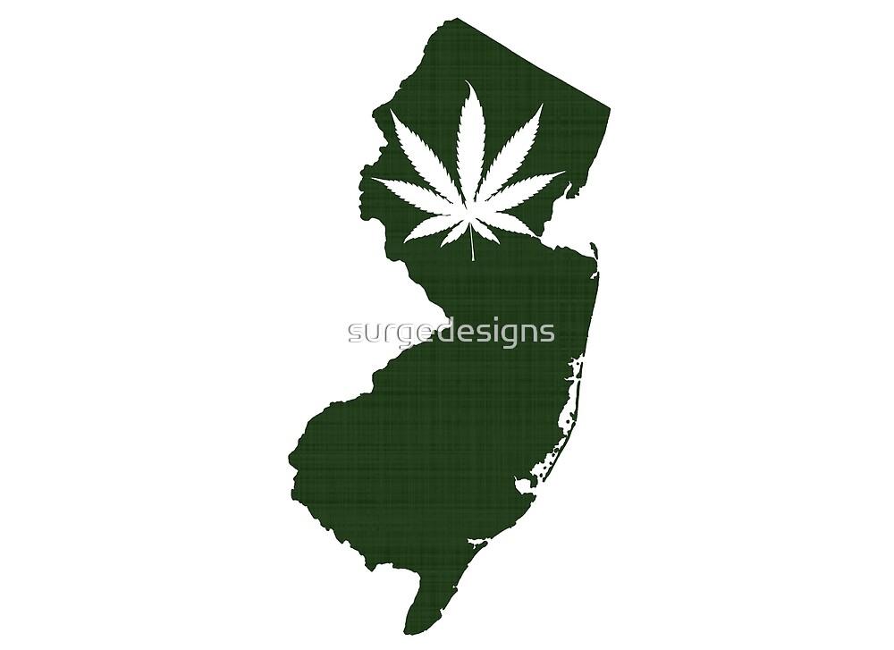 Marijuana Leaf New Jersey by surgedesigns