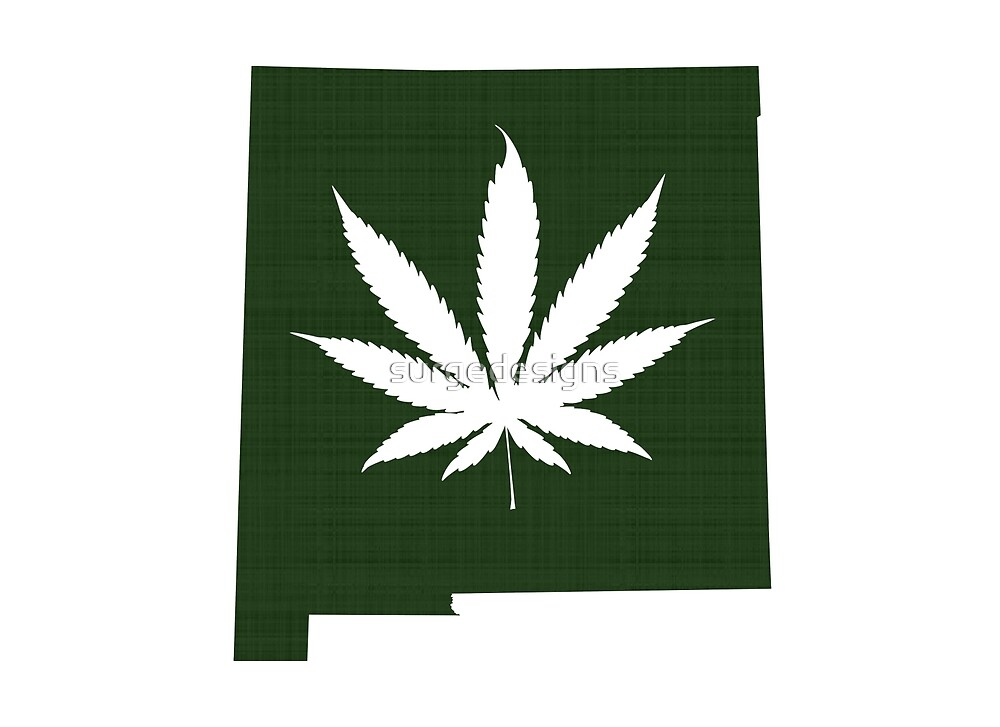 Marijuana Leaf New Mexico by surgedesigns
