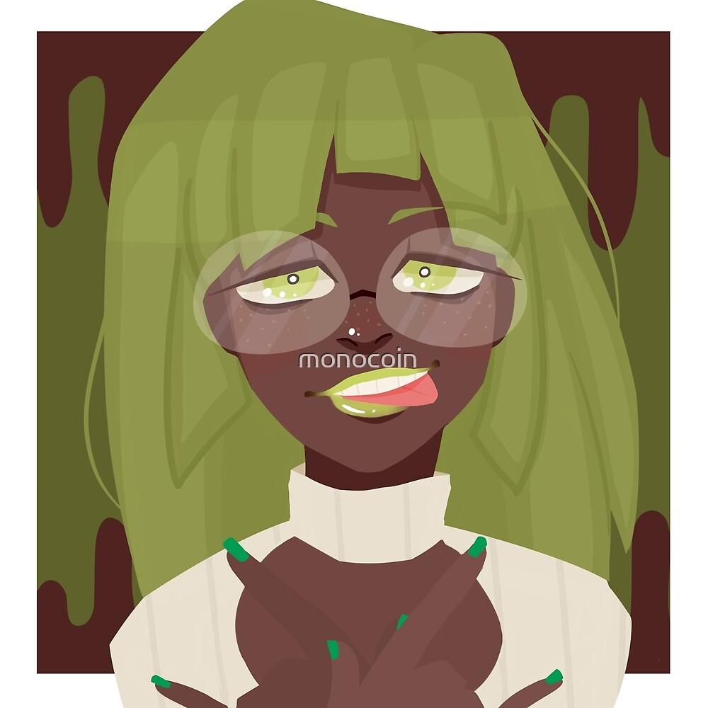 Double Chocolate Green Tea Frappuccino by monocoin