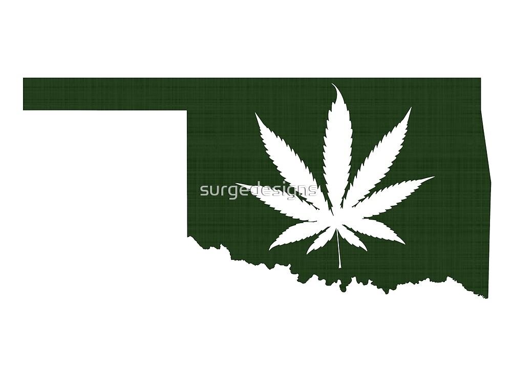 Marijuana Leaf Oklahoma by surgedesigns