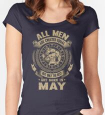 Gift for birthday in May Women's Fitted Scoop T-Shirt