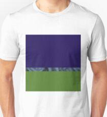 Abstract water landscape sky blue green Unisex T-Shirt