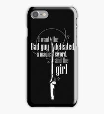 Magic Sword and the Girl iPhone Case/Skin