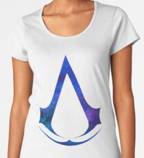 Assassins Creed Logo - Galaxy [blue] Women's Premium T-Shirt