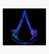 Assassins Creed Logo - Galaxy [blue] Photographic Print